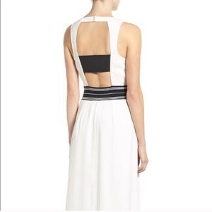 NWT! TROUVE White Open Back Midi Dress! Size XS